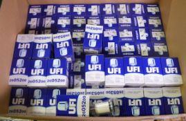 Vehicle parts - UFI Fuel Filters - see picture for itinerary for model numbers and quantit