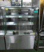 3 shelf heated cabinet - 900mm x 750mm x 1470mm