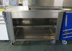 Mobile worktop with under counter storage - 1190mm x 645mm x 900mm