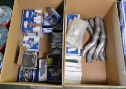 Vehicle parts - flexible pipes, clutch cylinder, centre bearing, spring bolt, water pump,