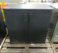 Double door fridge unit - 900mm x 520mm x 900mm
