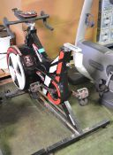 Wattbike Pro exercise bike - missing seat - with module but broken bracket
