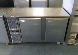 Precision 2 door refrigeration unit - 1345mm x 670mm x 870mm
