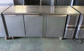 Precision 3 door refrigeration unit - 1820mm x 670mm x 870mm (right hand panel loose)