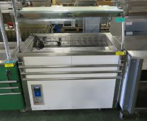 Moffatt VCRW3FC servery counter - 230V with tray rail - 1160mm x 900mm x 1340mm