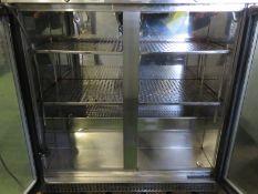 2x double door fridges - 900mm x 500mm x 890mm
