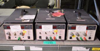 3x Thurlby Thandar TSX3510 Precision DC Power Supplies 35v-10A - AS SPARES OR REPAIRS