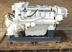MTU 12V 183 engine - engine code OM 444 LA - 610kW - 1310HP - 2100 RPM - Gearbox ZF Marine