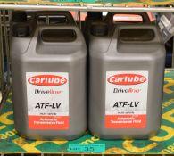 4x Carlube Driveline ATF-LV Automatic transmission Fluid - 5L