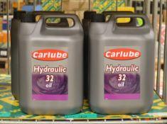 4x Carlube Hydraulic 32 Oil - 5L