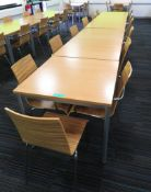 6x Canteen Tables & 13 Chairs