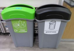 2x Various Waste Bins. To Include: General Waste, Mixed Recyclables.