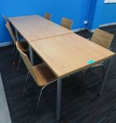 3x Canteen Tables & 6 Chairs