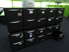 10x Howarth 2 Drawer Storage Cabinet. No Keys Included.