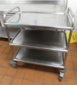 Stainless Steel 3 Tier Mobile Kitchen Trolley