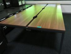 Bank Of Desks Seating 6.