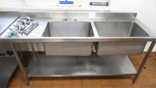 Stainless Steel Double Basin Sink Unit