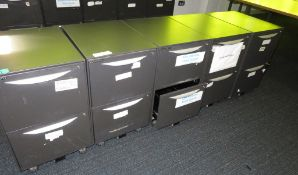 5x Howarth 2 Drawer Storage Cabinet. No Keys Included.