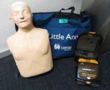 Little Anne CPR Training Dummy & Lifepak AED Trainer.