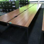 Bank Of Desks Seating 10.