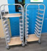 2x Mobile Canteen Tray Trollies.