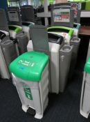 4x Various Waste Bins. To Include: General Waste, Mixed Recyclables, Non Recyclables & Food Waste.