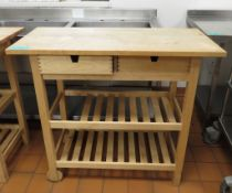 Wooden Catering Display Trolley
