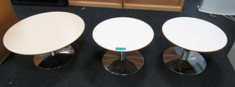 3x Circular Coffee Tables