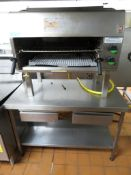 Falcon G1528 Salamander Gas Grill With Stainless Steel Prep Table