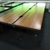 Bank Of Desks Seating 8.