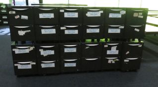 12x Howarth 2 Drawer Storage Cabinet. No Keys Included.