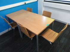 2x Canteen Tables & 5 Chairs
