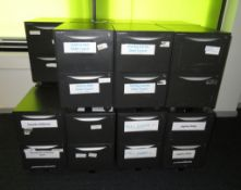 15x Howarth 2 Drawer Storage Cabinet. No Keys Included.