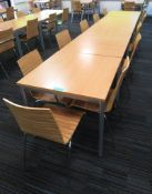 5x Canteen Tables & 11 Chairs