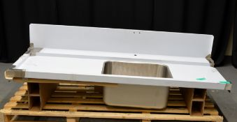 Electrolux Pre-Wash Table with Bowl (600x450mm) for rack type Dishwasher with legs