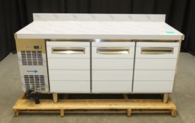 Electrolux Professional EJ3H3AAAXK Ecostore 3 Door Refrigerated Counter Unit - BRAND NEW