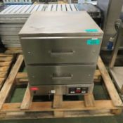 Winston Industrial HBB0D2GV Stainless Steel Food Warmer W610mm x D720mm x H640mm