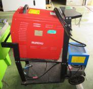 Murex Transtig AC/DC 353i welder no accessories or torch, Abicor Binzel unit on mobile cart