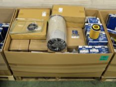 Vehicle parts - brake pad sets, air & oil filters, fuel filter inserts, - see pictures