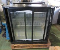 Klimasan 2 Door Cold Display Cabinet 240v - L900 x H500 x H870mm (broken door) & King 2 Do