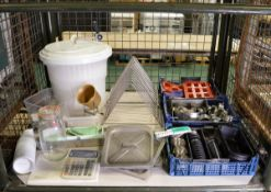 Various Catering Equipment - Spin Bucket, Moulds, Cutters & Slicers