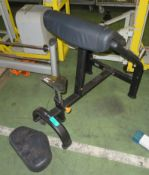 Preacher Curl Exercise Bench - worn
