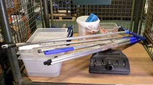 Various Kitchen Cleaning Equipment, Dishwasher accessories, catering storage tubs