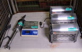 3x Insect-O-Cutor 16 S/S Electric Insect Killers 240v, Genware Electric Scales - 15kg x 0.