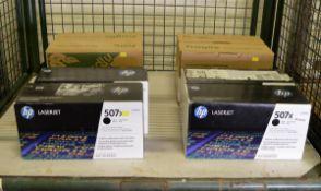 8x HP LaserJet 507X Print Cartridges - Black