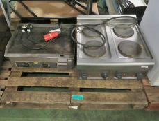 Lincat Electric Table Top 4 Hob Unit - 3 Phase, Roller Grill Double Griddle 240v
