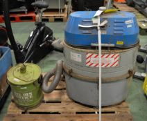 Nilfisk GS82H Industrial Vacuum Cleaner - L760 x W430 x H880mm & The Bin Vortice Small Vacuum