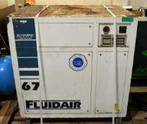 Fluidair Rotapak RPK67 Compressor Unit - L1000 x W720 x 1040mm
