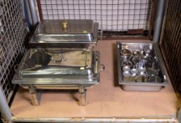 Various Stainless Steel Chafing Unit With Fuel Units, gastronorm tray