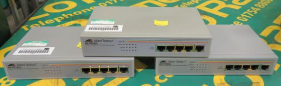 3x Allied Telesyn At-Fs705l 5 Port Fast Ethernet Switches